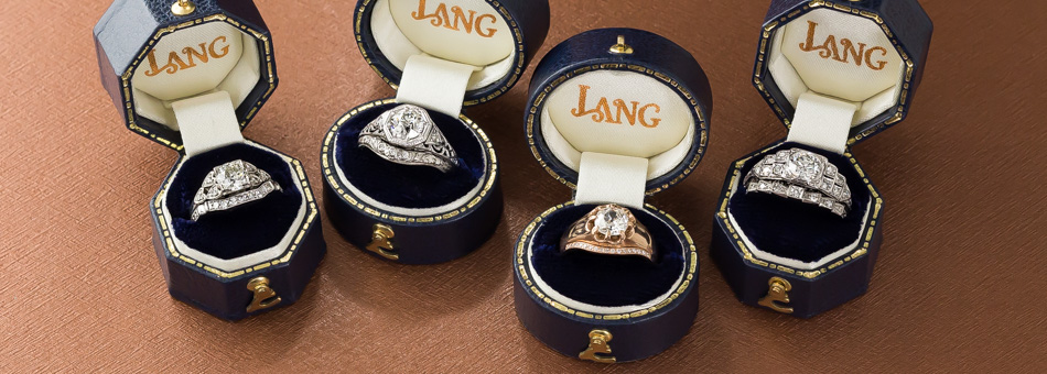 Vintage Inspired Lang Wedding Band Collection