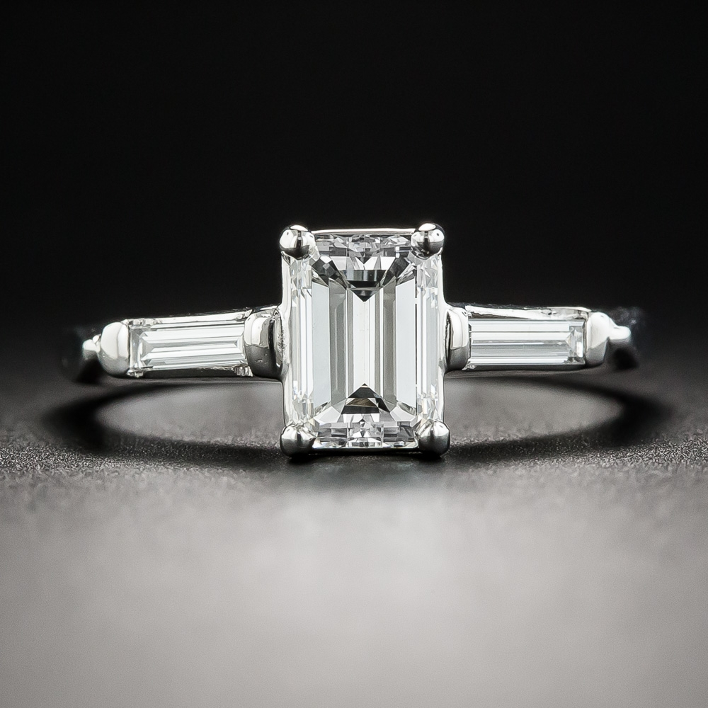 Black Diamond Engagement Rings Emerald Cut