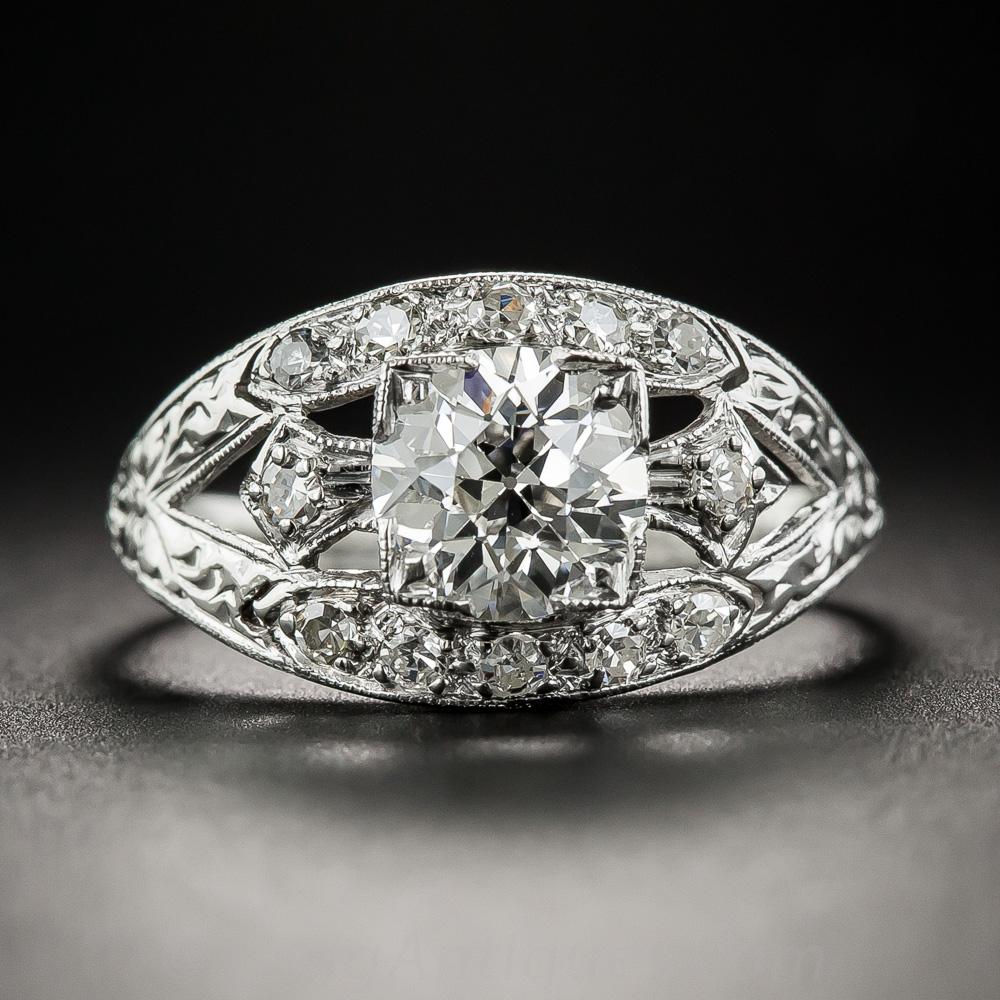 1 15 Carat Art Deco Diamond Engagement Ring Gia I Vvs2