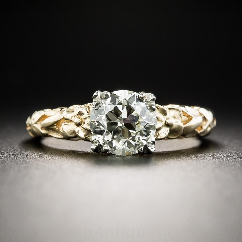 1 18 Carat Vintage Orange Blossom Engagement Ring