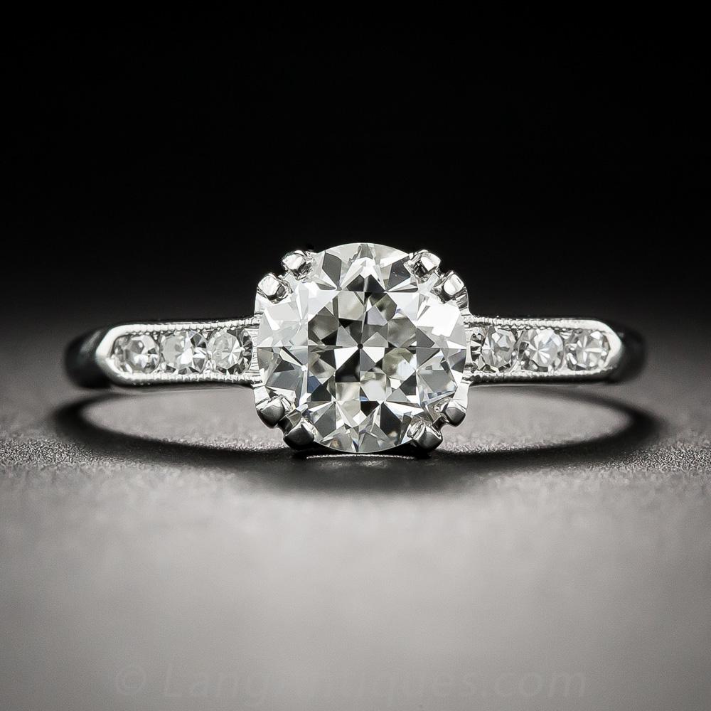 1 25 Carat Diamond Vintage Solitaire Gia J Vvs2