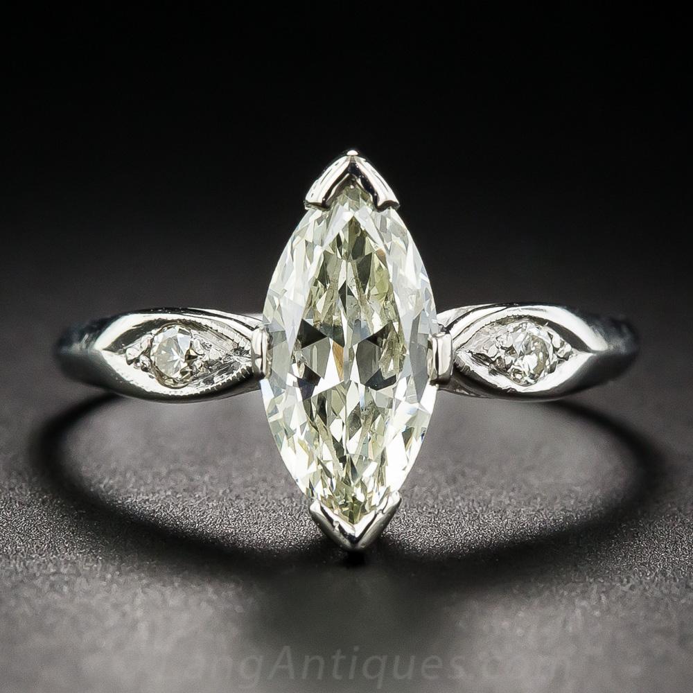 1 35 Carat Vintage Marquise Diamond Ring