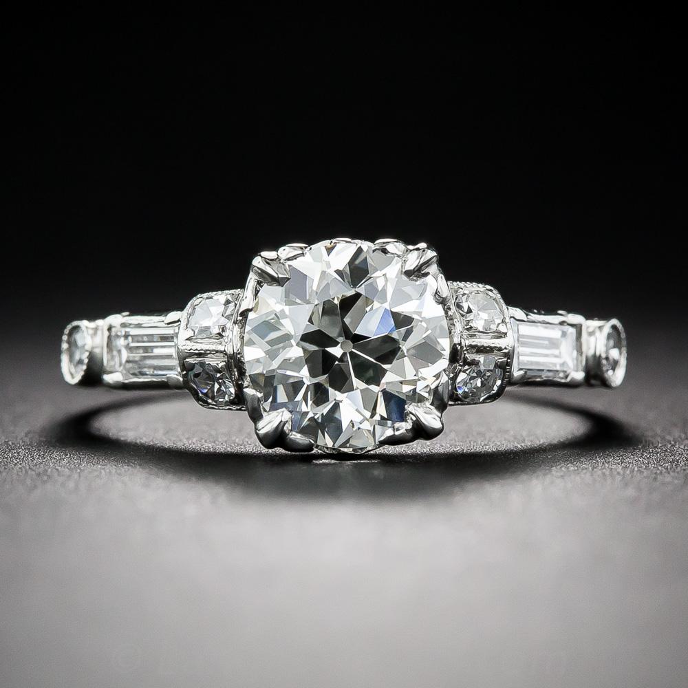 carat diamond art deco engagement ring. Black Bedroom Furniture Sets. Home Design Ideas