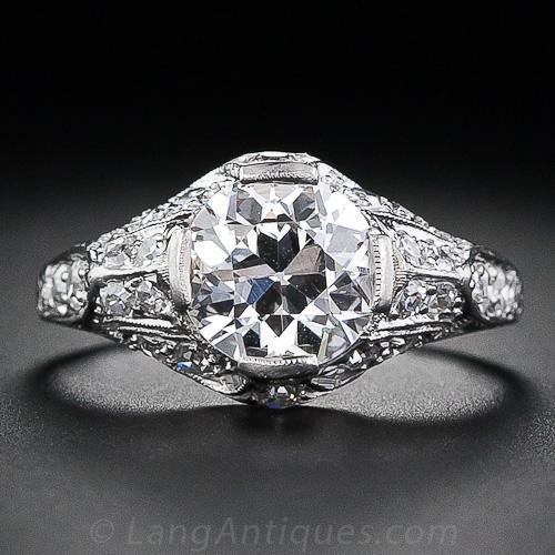 1 60 Carat Diamond Edwardian Engagement Ring