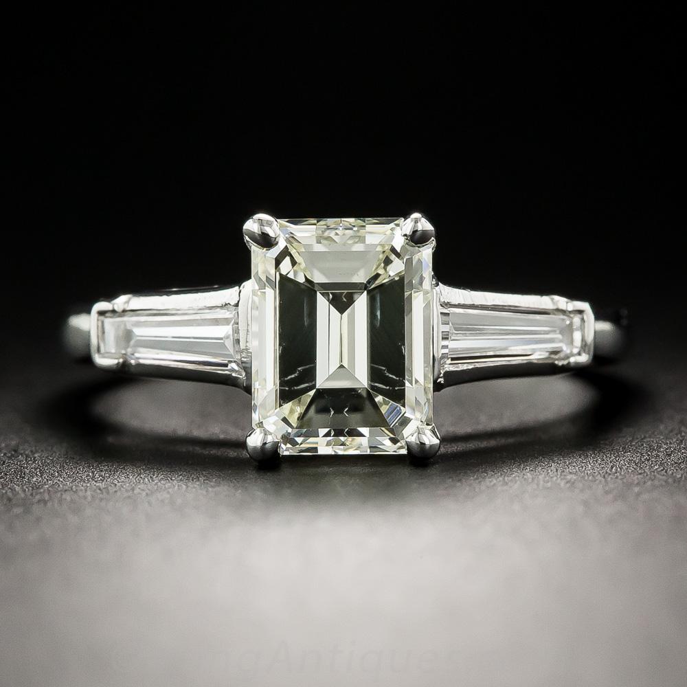 1.65 Carat Emerald-Cut Diamond Platinum Solitaire