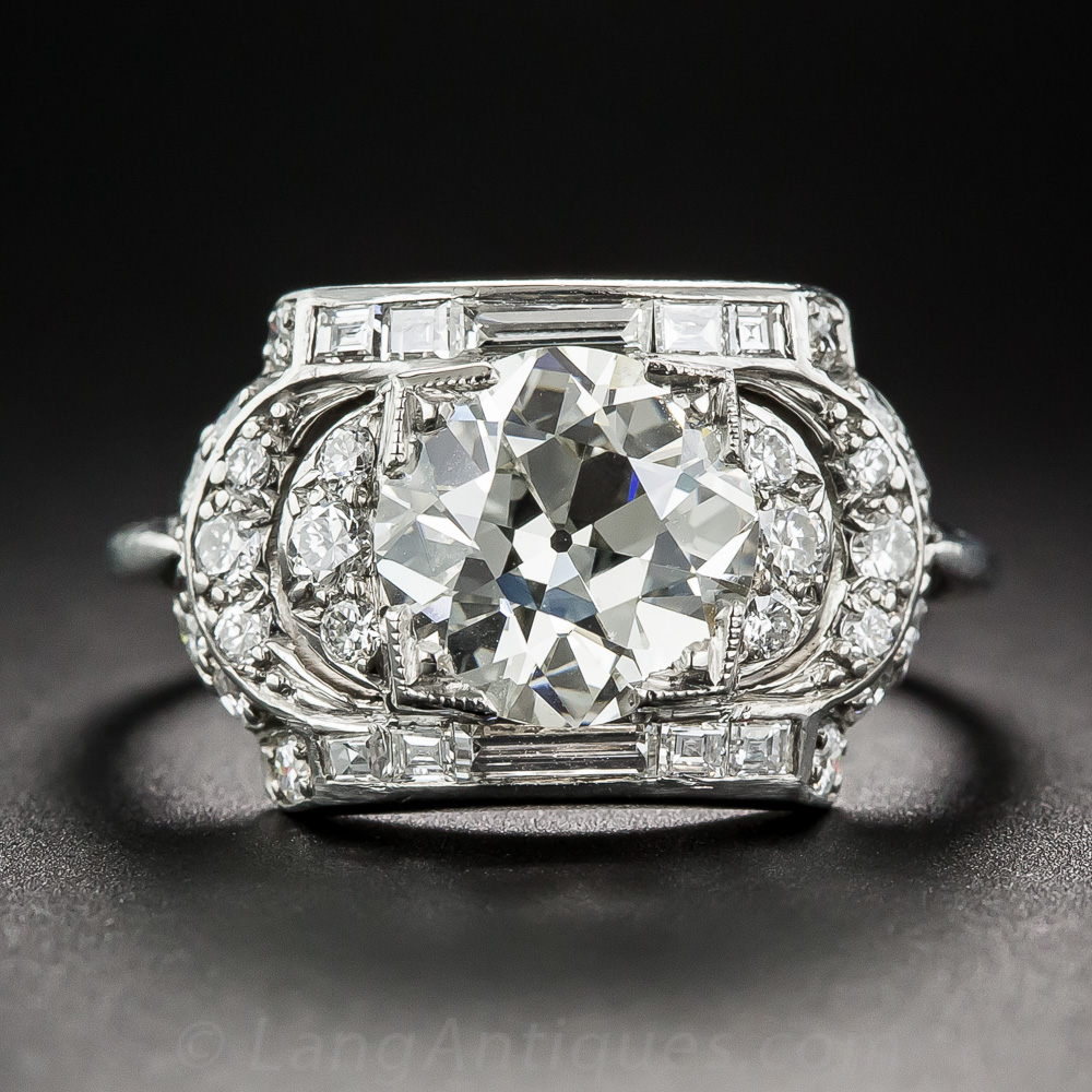 1 91 Carat Art Deco Diamond Ring By Maurice Tishman