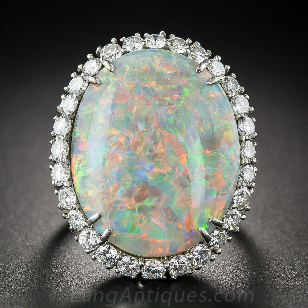 14 15 Carat Opal And Diamond Ring By Winston
