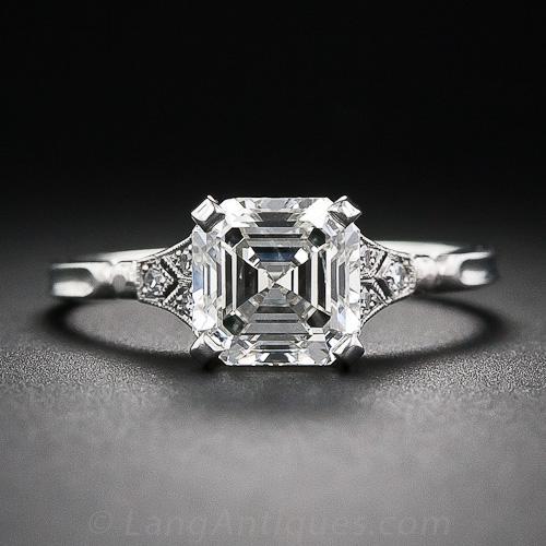 2.00 Asscher-Cut Diamond Engagement Ring