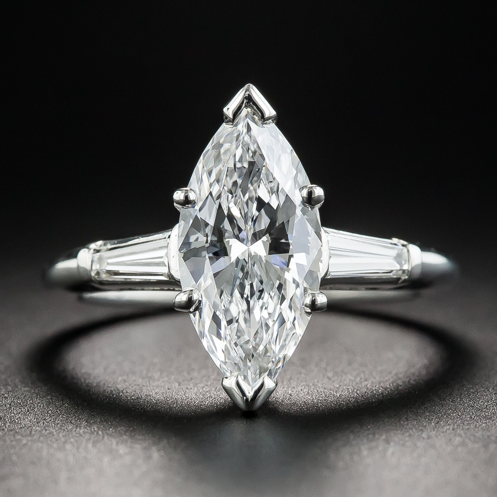 Marquise diamond engagement ring gia d vs2 for Art craft engagement rings
