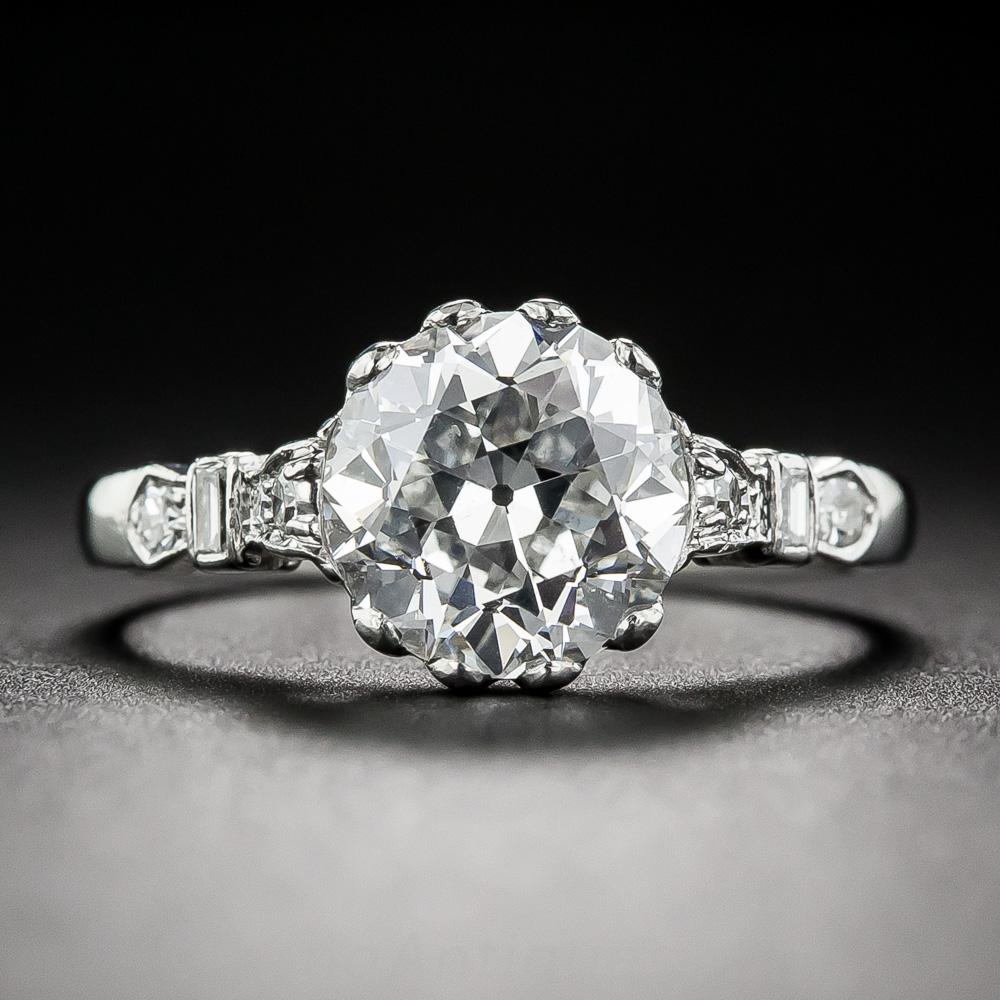 2 10 Carat Diamond Vintage Engagement Ring Gia E Si1