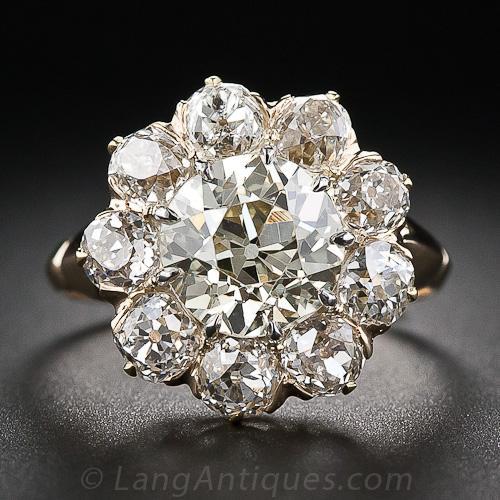 One Carat Diamond Cluster Ring
