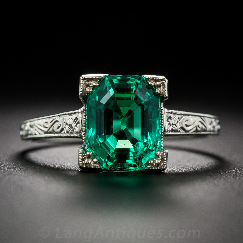 2 44 Carat Natural No Enhancements Emerald Ring