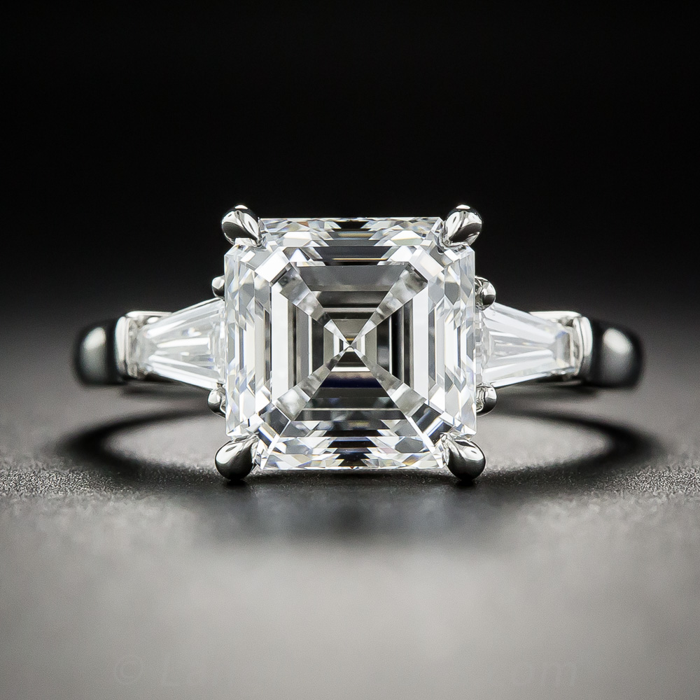 Square Cut Black Diamond Ring