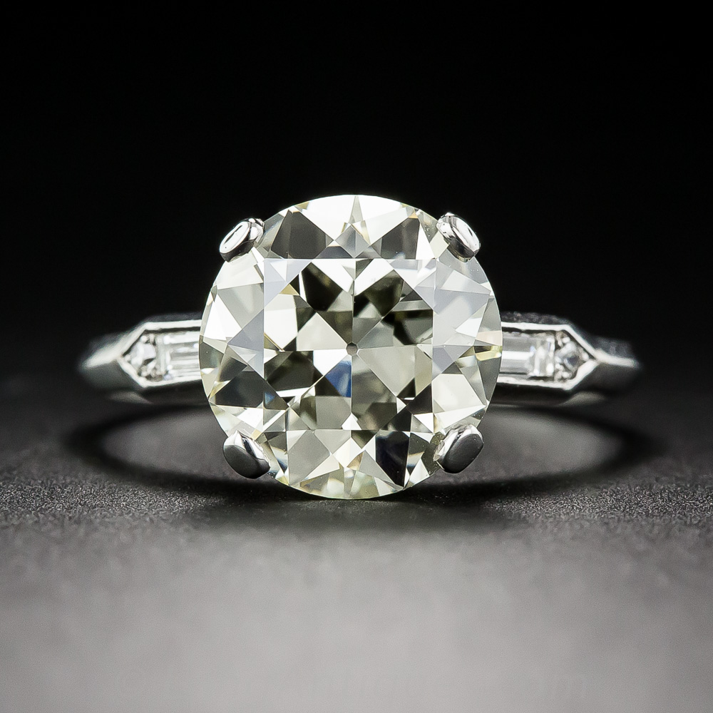 3 06 Carat Old European Cut Diamond Ring
