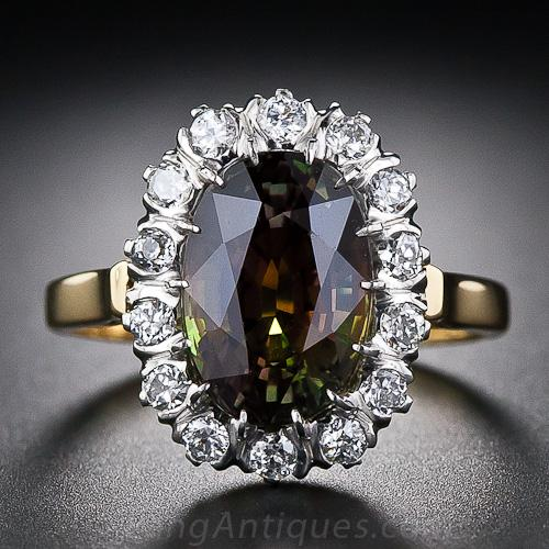 4 19 Carat Alexandrite And Diamond Ring