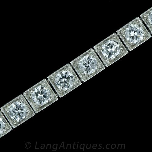 platinum and bracelet diamond ruby art deco ru bracelets