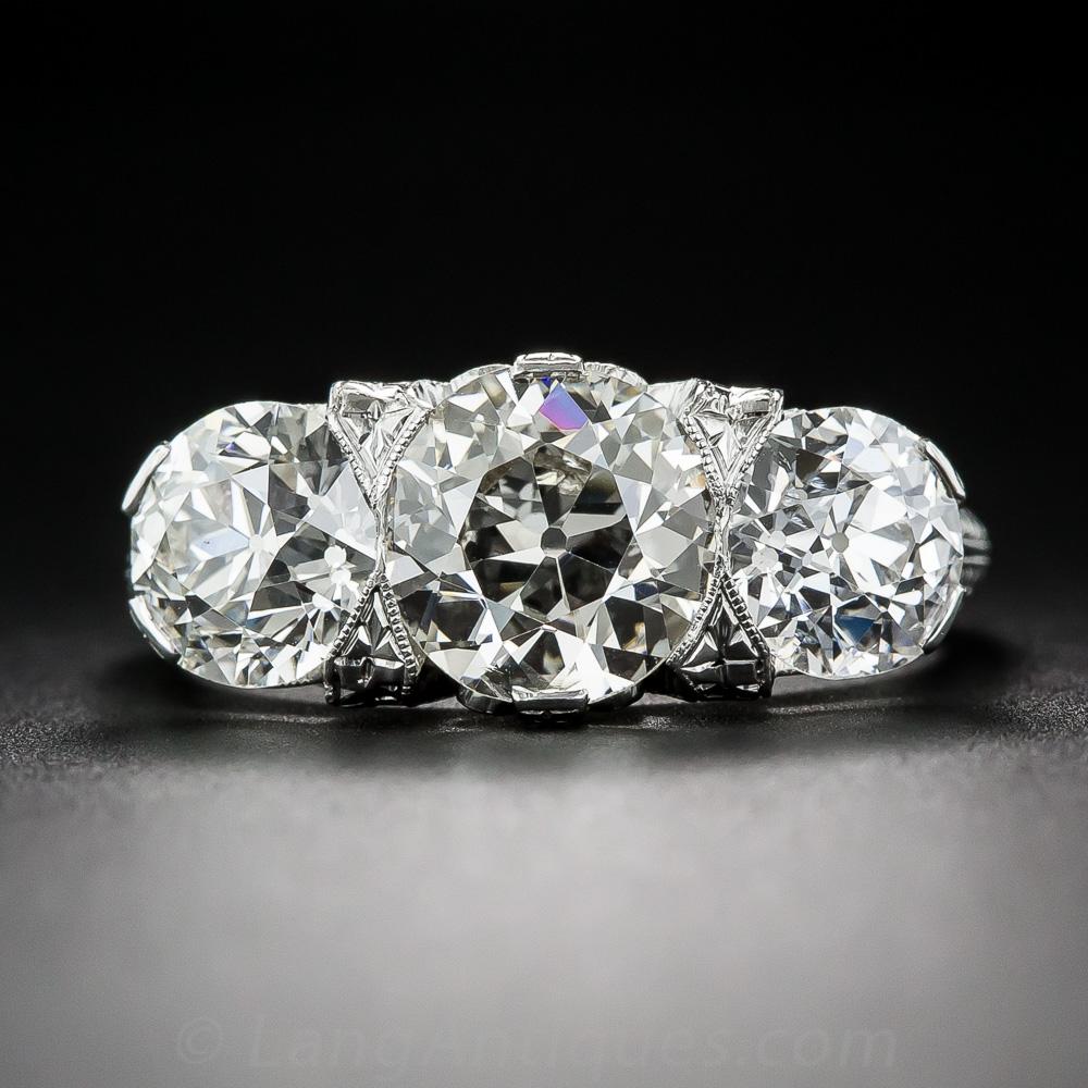 carat total edwardian three stone diamond ring. Black Bedroom Furniture Sets. Home Design Ideas