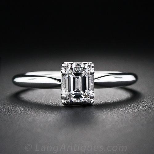 47 Carat Emerald Cut Solitaire Diamond Ring