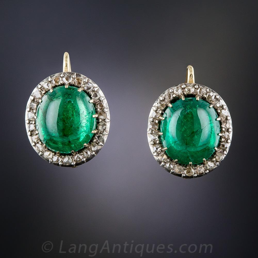 8 00 carat emerald cabochon and rose