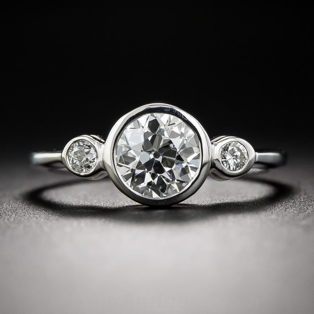 99 carat center diamond three stone ring. Black Bedroom Furniture Sets. Home Design Ideas