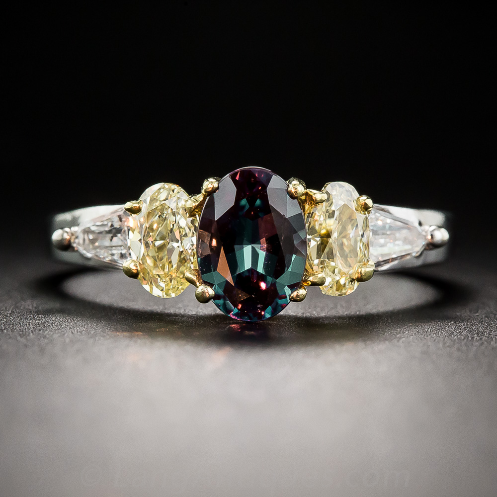Alexandrite And Fancy Yellow Diamond Ring By Mark Henry