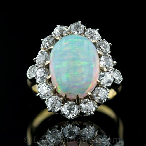Fire Opal Engagement Ring Price