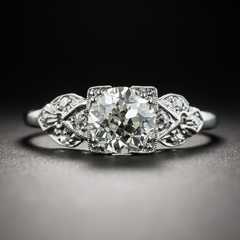 Art Deco 1 24 Carat Diamond Platinum Engagement Ring