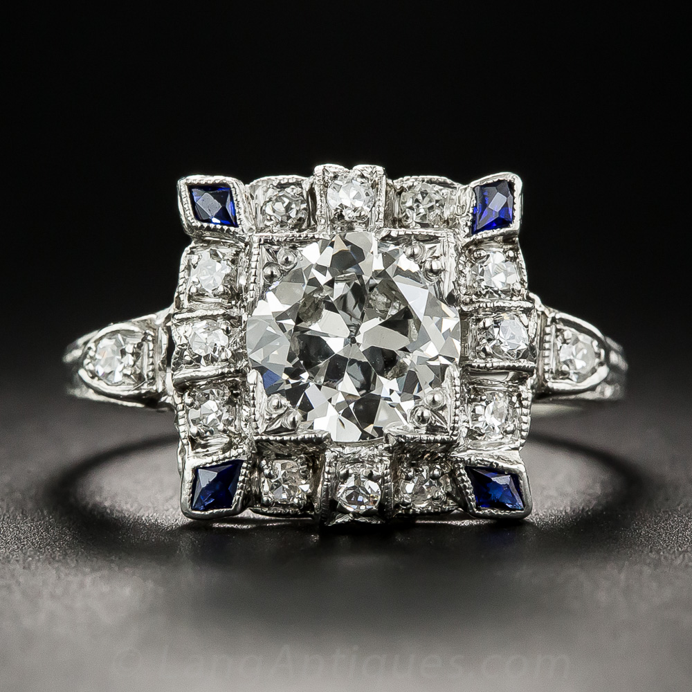 Art Deco 1 30 Carat Diamond Engagement Ring