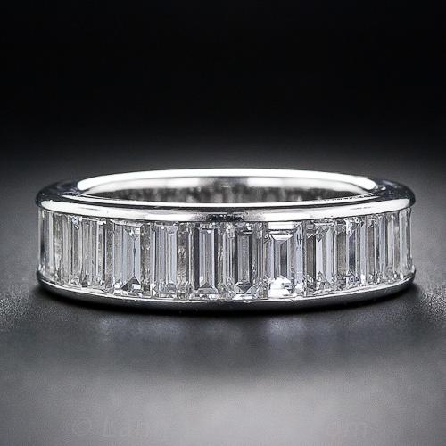 Baguette Diamond Platinum Eternity Band