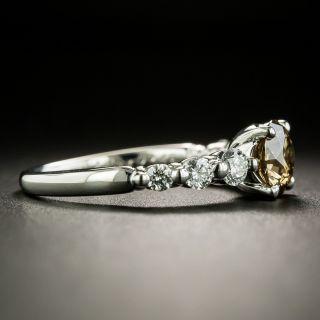 1.00 Carat Fancy Dark Yellowish Brown Diamond Engagement Ring - GIA