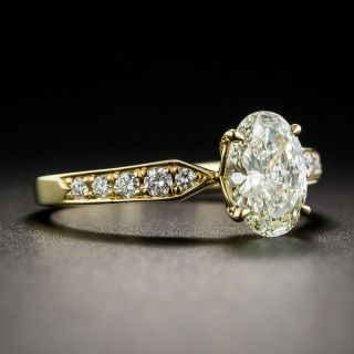 1.00 Carat Oval Brilliant Diamond Engagement Ring