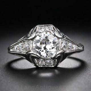 1.01 Carat Art Deco Diamond Ring by Walton - 1