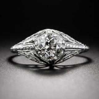1.01 Carat Diamond Early-20th Century Neoclassical Engagement Ring  - 1
