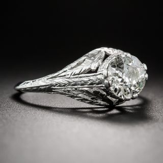 1.01 Carat Diamond Early-20th Century Neoclassical Engagement Ring