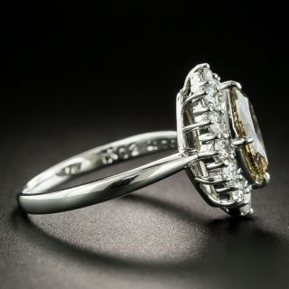 1.02 Ct. Natural Brown Marquise Diamond Ring
