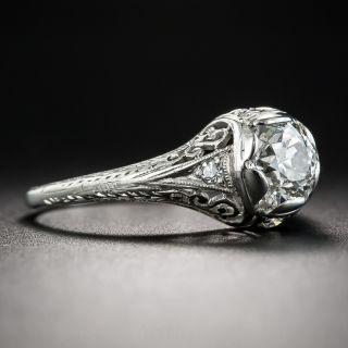 1.06 Carat Diamond Art Deco Engagement Ring - GIA  J VS2