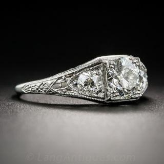 1.07 Carat Diamond Art Deco Engagement Ring - GIA I VS1