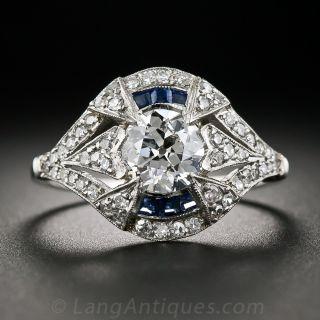 1.09 Carat Art Deco Diamond Ring - 1