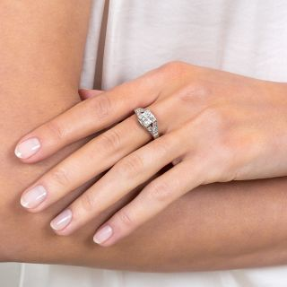 1.16 Carat Diamond Platinum Engagement Ring - GIA I VS1