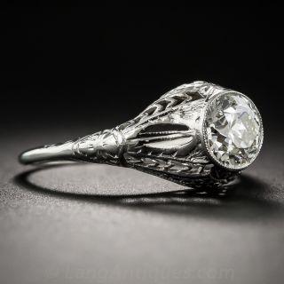 1.17  Carat Art Deco Solitaire Diamond Ring - GIA K VS1