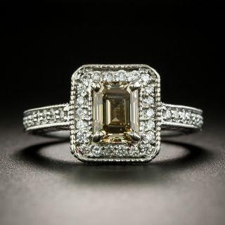 1.22 Carat Natural Fancy Yellowish Brown Diamond Engagement Ring - GIA  - 1
