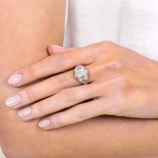 Art Deco 1.23 Carat Diamond Engagement Ring - GIA K VS2