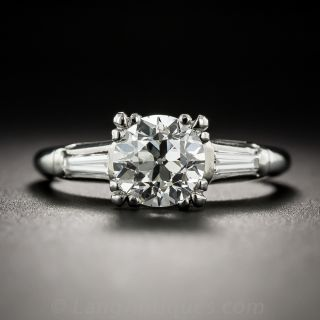 1.24 Carat Diamond Vintage Engagement Ring - GIA I VS1  - 1