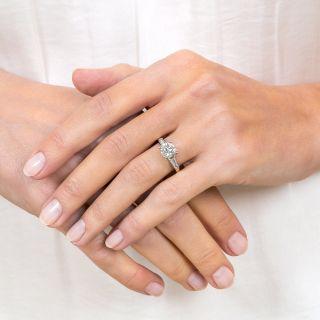 1.24 Carat Diamond Vintage Engagement Ring - GIA I VS1