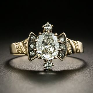 1.26 Carat Victorian Diamond Engagement Ring - GIA - 2