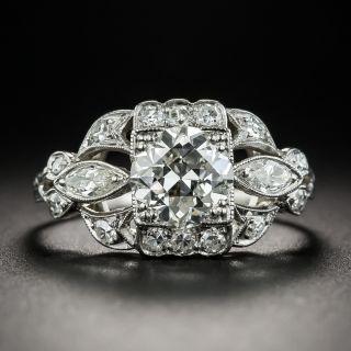 1.30 Carat Art Deco Engagement Ring - GIA I/SI1 - 2