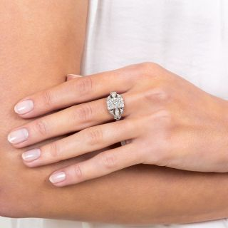1.30 Carat Art Deco Engagement Ring - GIA I/SI1