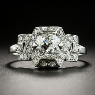 1.35 Carat Art Deco Diamond Engagement Ring - GIA K SI1 - 2