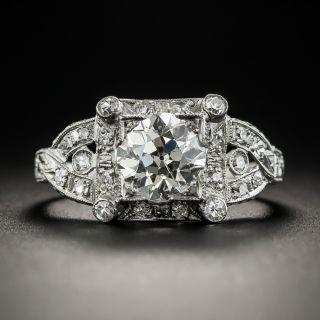 1.35 Carat Art Deco Diamond Platinum Engagement Ring - GIA L SI2 - 1