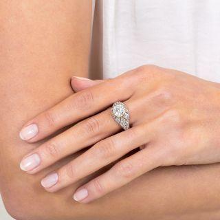 1.46 Carat Art Deco Diamond Engagement Ring